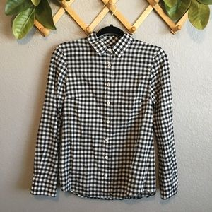 J.Crew Gingham Plaid Boy Button Down Long Sleeve.